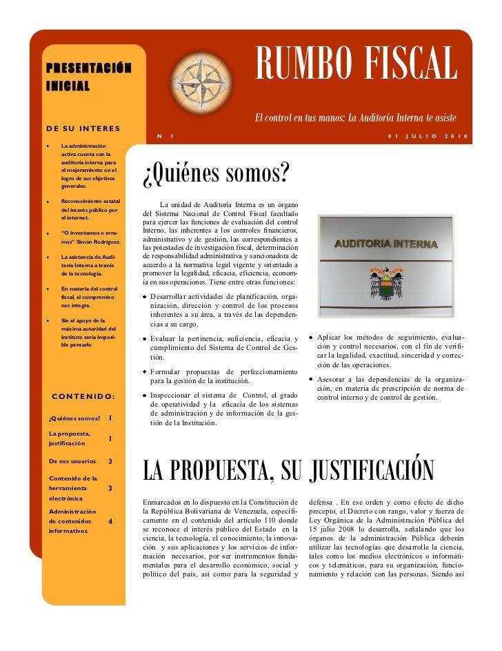 PRESENTACIÓNINICIAL                                                                    RUMBO FISCAL                       ...