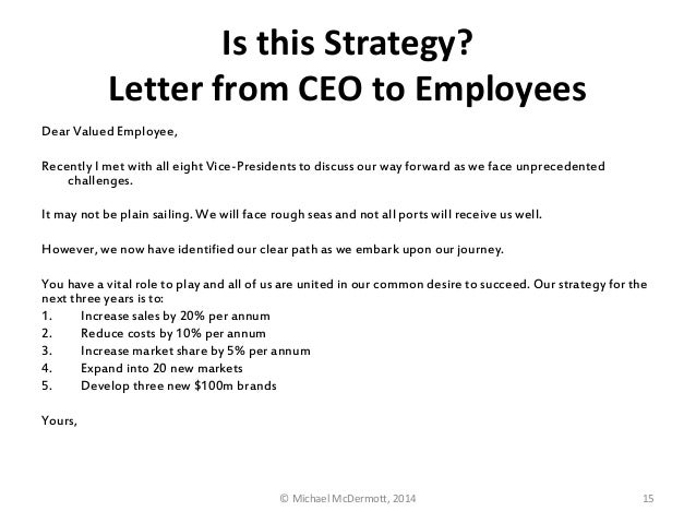 the new year letter to employees from ceo or can help rumelt strategy is not goal setting 934