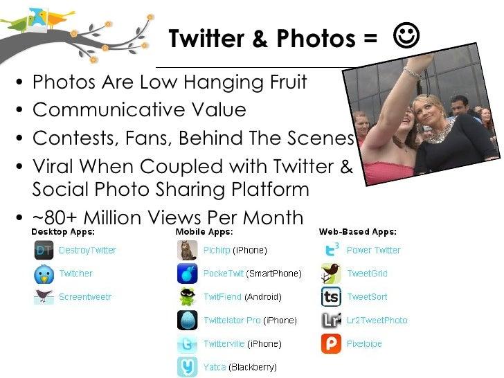 Twitter & Photosharing Evolve Slide 2