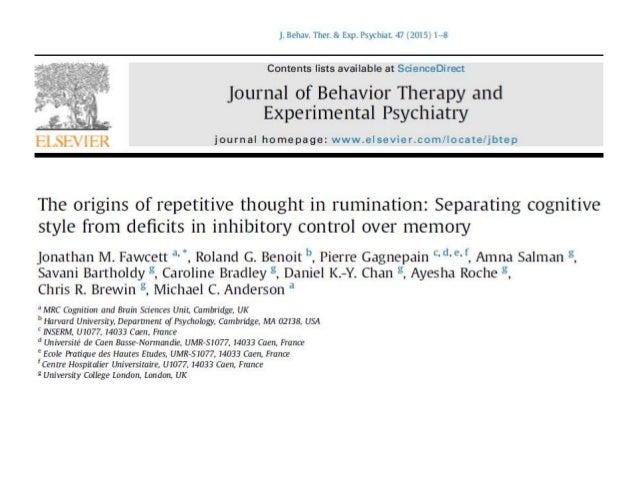 aa 2015-16 Psicologia Clinica 2  INTRODUZIONE Iperattivazione delle facoltà cognitive • Memoria • Associazione • Formazio...
