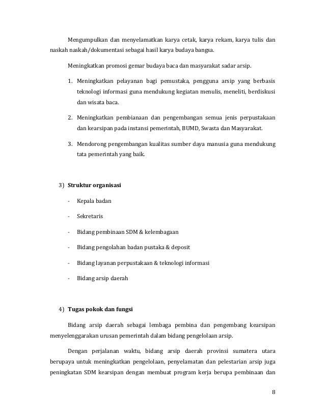 Laporan Kunjungan Kantor Arsip Daerah Sumatera Utara