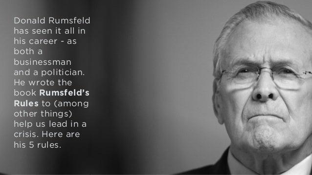 Today's 60-Second Book Brief: Rumsfeld's Rules by Donald Rumsfeld Slide 2