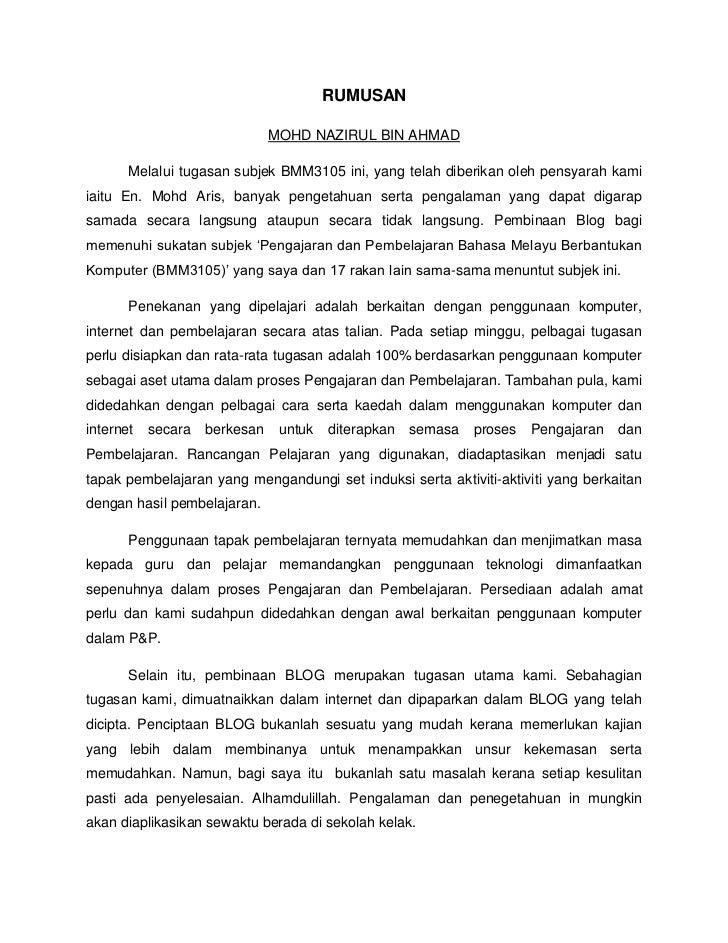 Contoh Jawapan Soalan Komsas Spm - M Soalan