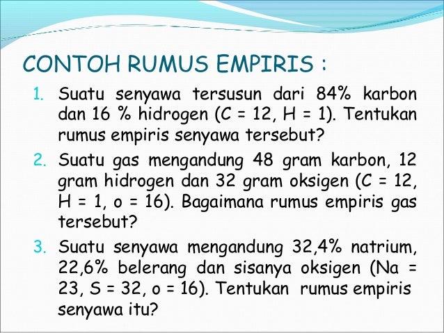 Rumus Empiris Dan Rumus Molekul Ok