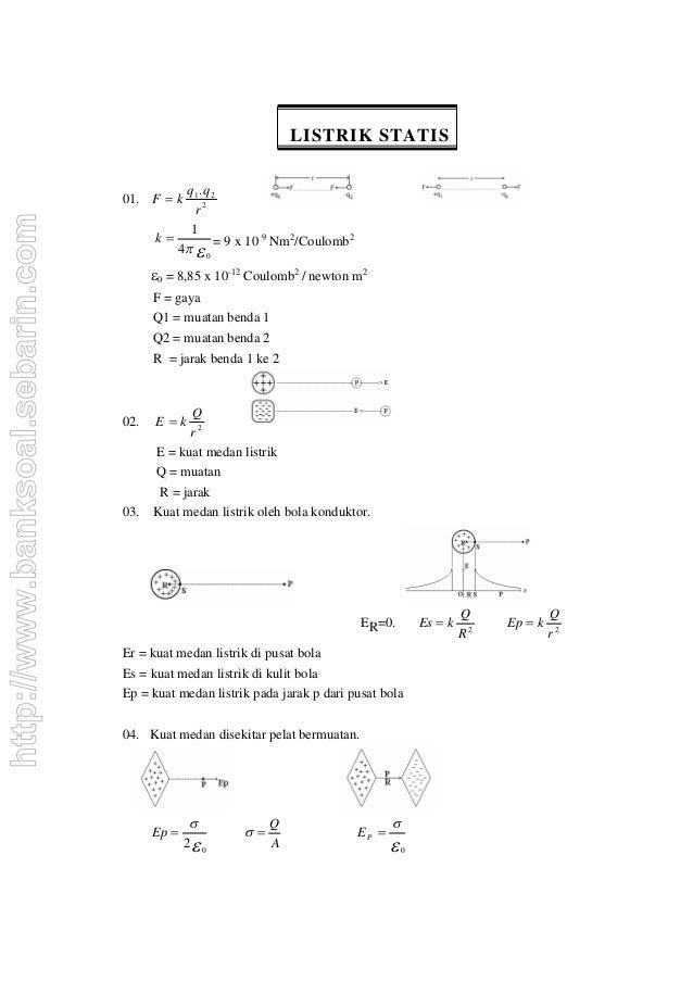 LISTRIK STATIS                                            q1 . q 2                                  01. F  k             ...