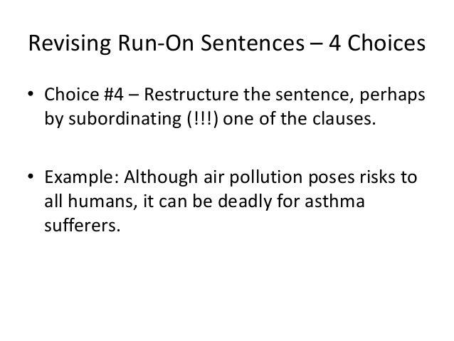 how to do a run on example sentences
