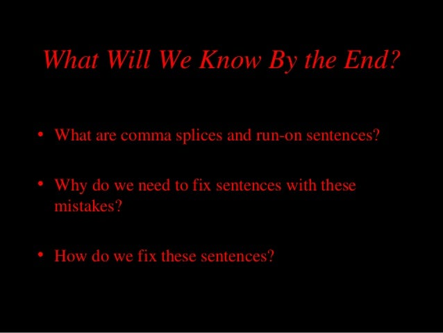 how to fix a comma splice sentence
