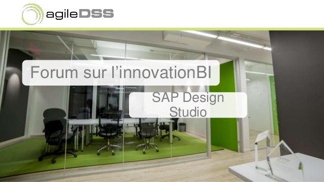 Forum sur l'innovationBI SAP Design Studio