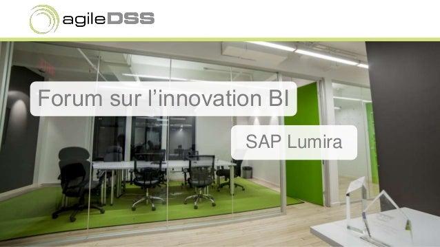 Forum sur l'innovation BI SAP Lumira