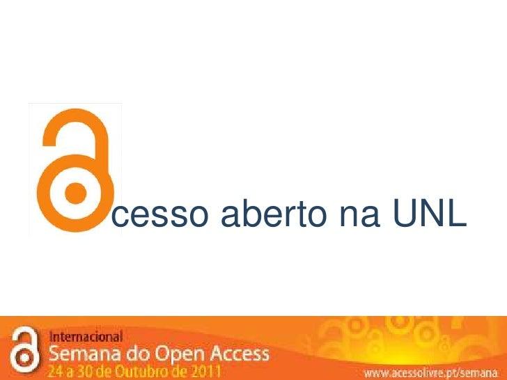 cesso aberto na UNL