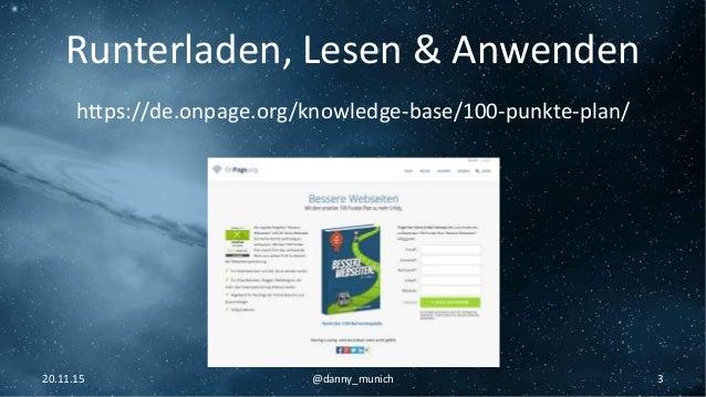OnPage SEO - Technik Grundlagen - Danny Linden Slide 3