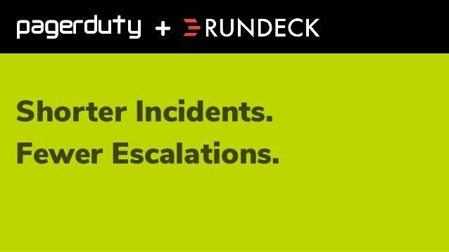 Shorter Incidents. Fewer Escalations.