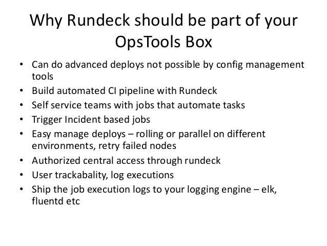 One Click Deploys using Rundeck Slide 3
