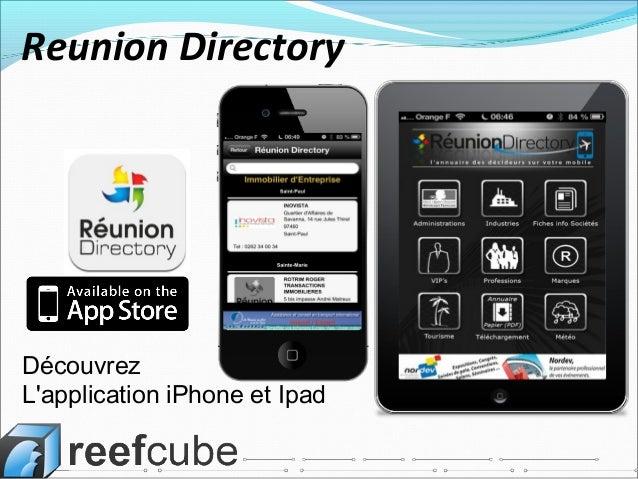 Découvrez L'application iPhone et Ipad Reunion Directory