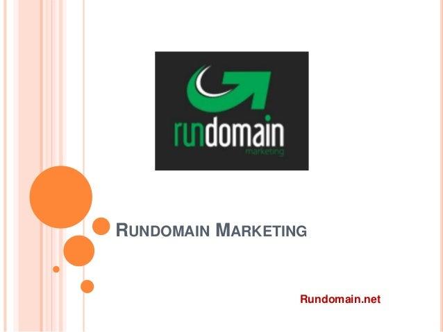 RUNDOMAIN MARKETING Rundomain.net