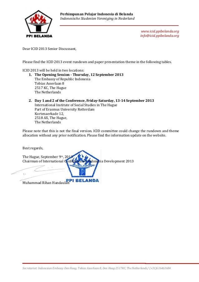Perhimpunan Pelajar Indonesia di Belanda Indonesische Studenten Vereniging in Nederland www.icid.ppibelanda.org info@icid....