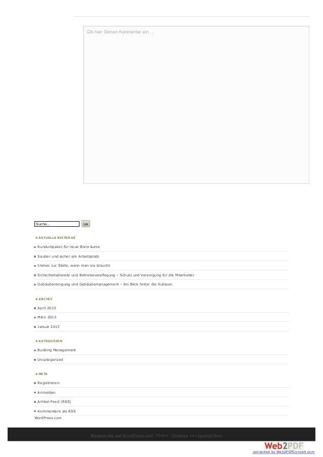 Gib hier Deinen Kommentar ein ...Suche…                    Los♣ A KTUELLE BEITRÄ GE Rundumpaket für neue Büroräume Sauber ...