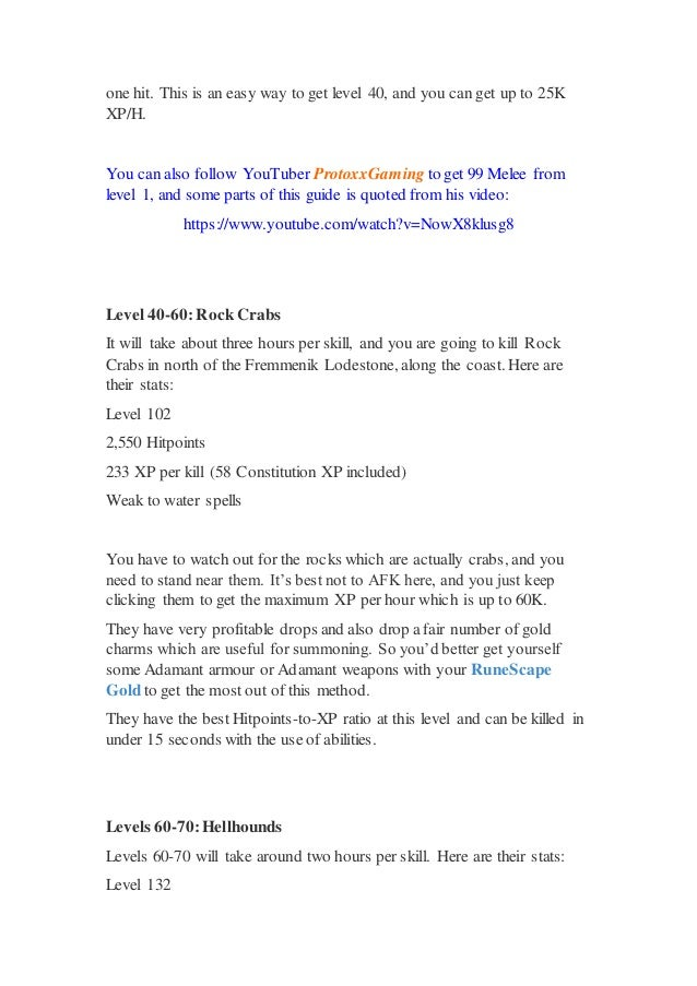 RuneScape 3 Guide 1 99 Melee