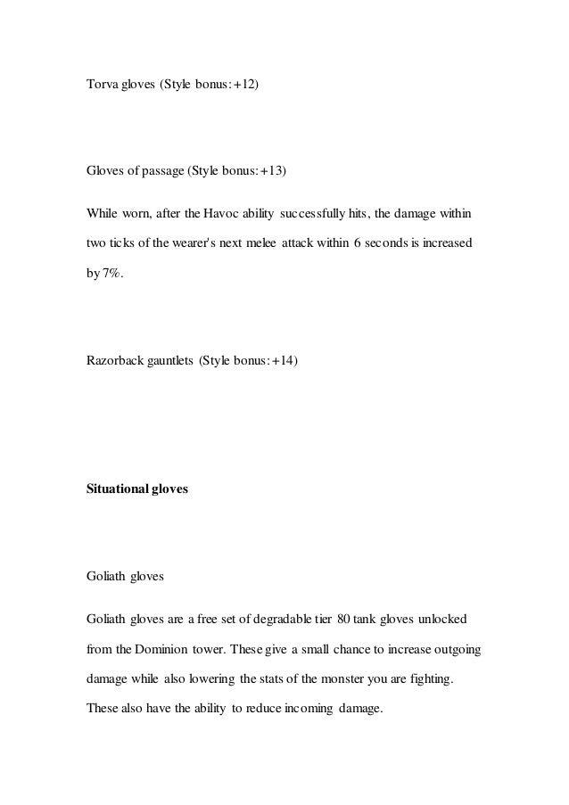 Runescape 3: Melee Gearing Guide