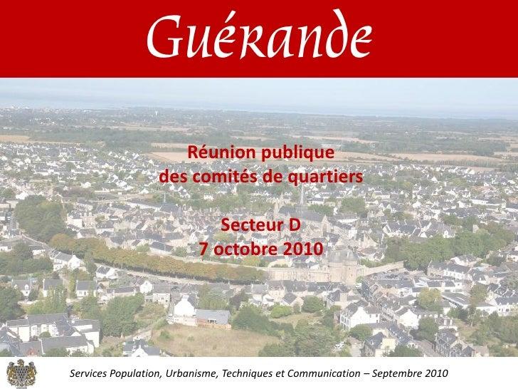 Guérande                     Réunion publique                  des comités de quartiers                              Secte...
