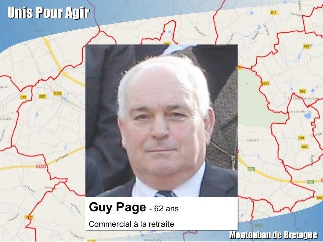 Unis Pour AgirUnis Pour Agir Montauban de BretagneMontauban de Bretagne Guy Page - 62 ans Commercial à la retraite Guy Pag...