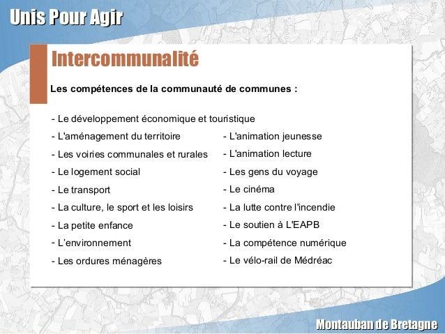 Les compétences de la communauté de communes :Les compétences de la communauté de communes : Intercommunalité Unis Pour Ag...