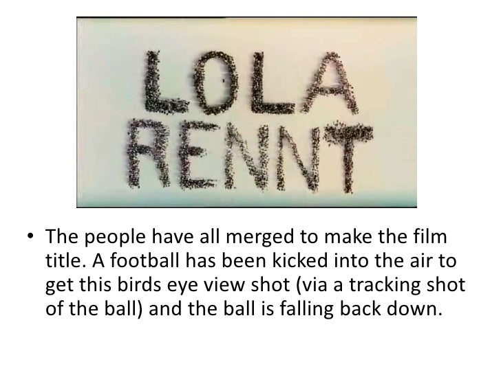 run lola run essay Could anyone please give some ideas how can i write an essay about run lola run highlighting postmodernism  please help your help will be so much.