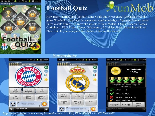 """Football Quiz How many international football teams would know recognize? Download free the game """"Football - Quiz"""" and dem..."""
