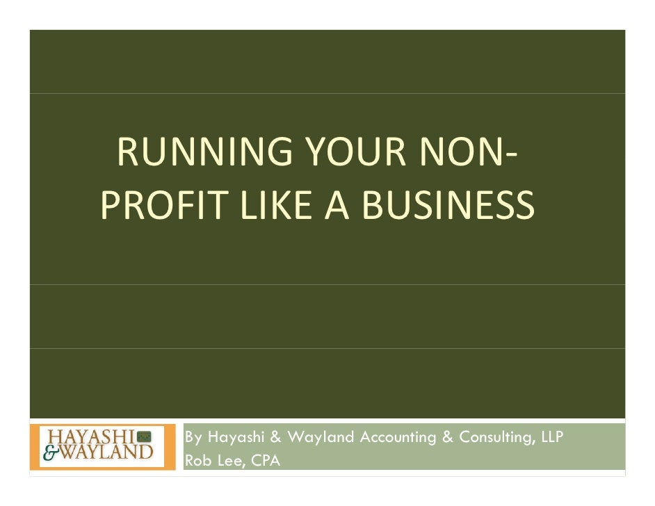 Non Profit Business Plan Development