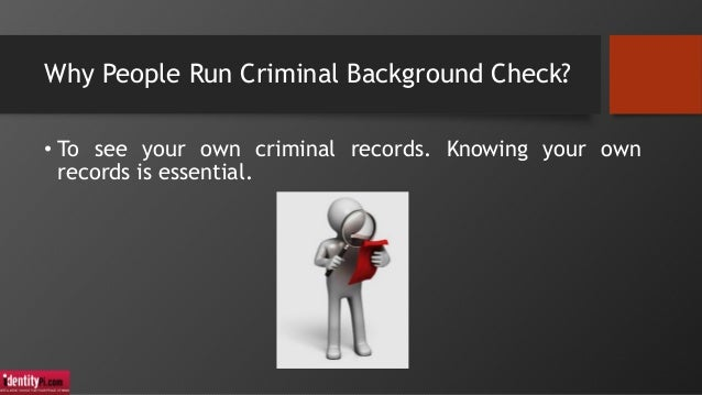 how to run a criminal background check