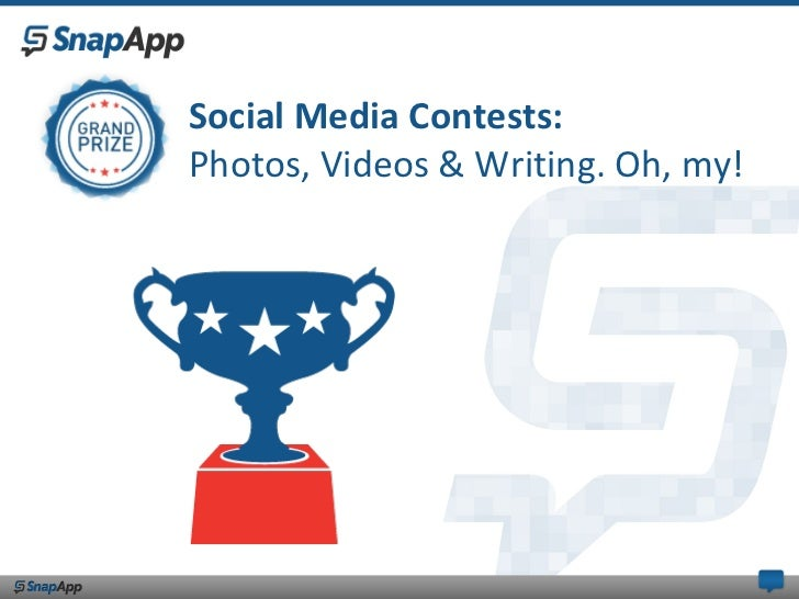 Social Media Contests:Photos, Videos & Writing. Oh, my!