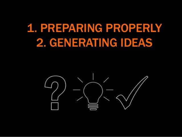 1. PREPARING PROPERLY