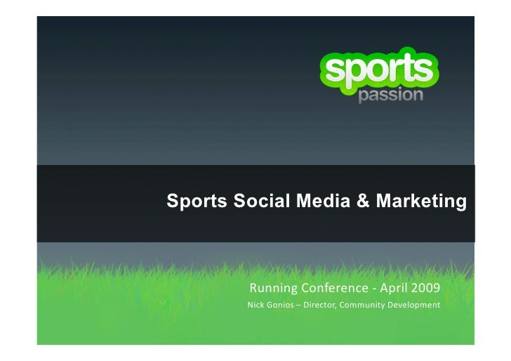 Sports Social Media & Marketing            Running
