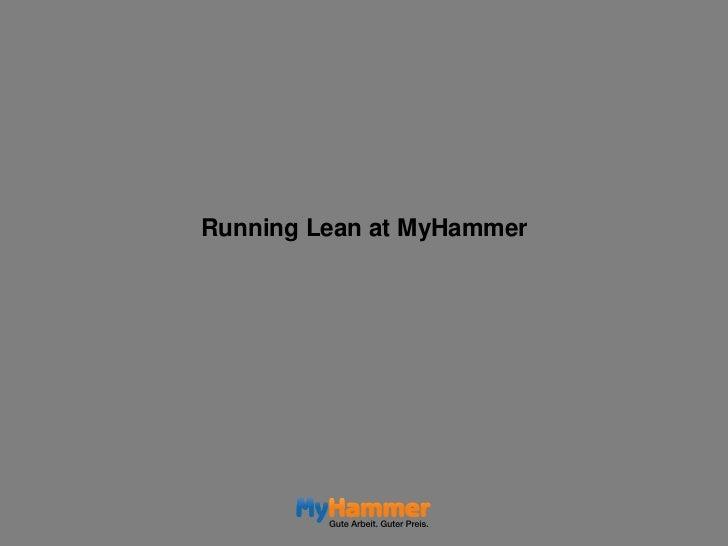Running Lean at MyHammer<br />