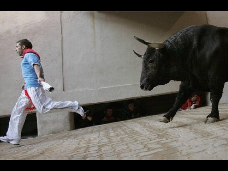 Running Of The Bulls  -  Pamplona, Spain