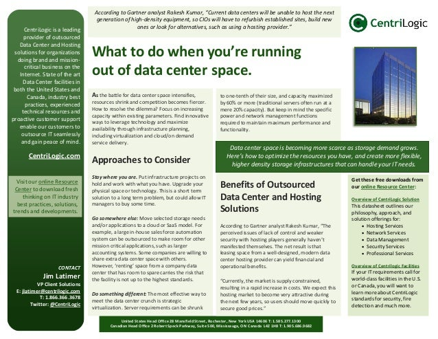 CentriLogic is a leading provider of outsourced Data Center and Hosting solutions for organizations doing brand and missio...