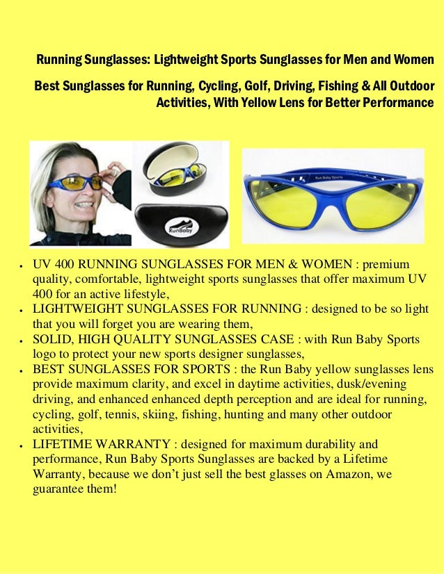 4aac97079951 Running Sunglasses   Lightweight Sports Sunglasses for Men and Women