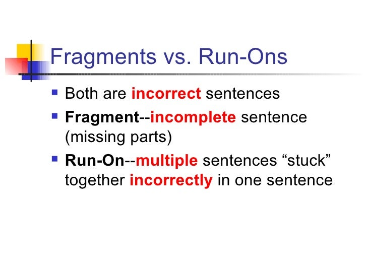 Runons Notes Powerpoint