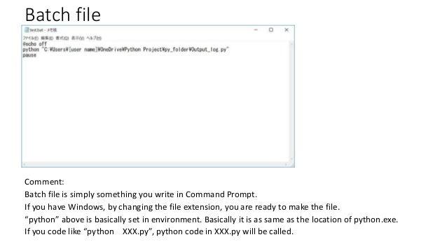 Run python from windows taskscheduler