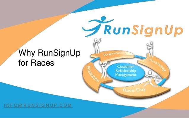 Why RunSignUp for Races I N F O @ R U N S I G N U P. C O M
