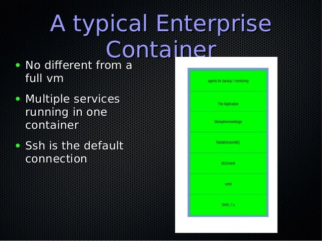 Closing the gaps between dev and ops,Closing the gaps between dev and ops, AGAIN !!AGAIN !! ● Where do your containers com...
