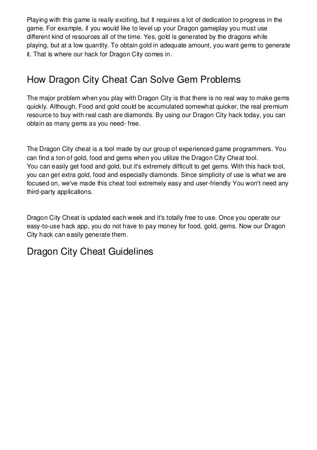 Dragon City Hack 2018 - Online Hack For iOS & Android