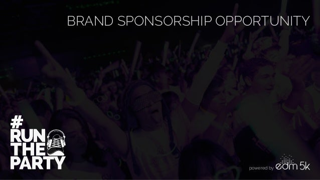BRAND SPONSORSHIP OPPORTUNITY  powered by