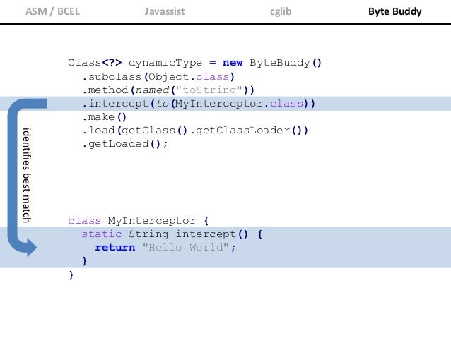 ASM / BCEL Javassist cglib Byte Buddy Annotations that are not visible to a class loader are ignored at runtime. Thus, Byt...