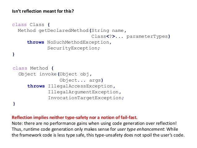 class Method { Object invoke(Object obj, Object... args) throws IllegalAccessException, IllegalArgumentException, Invocati...