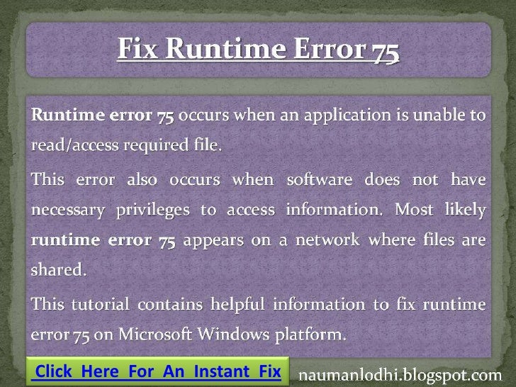 Click Here For An Instant Fix
