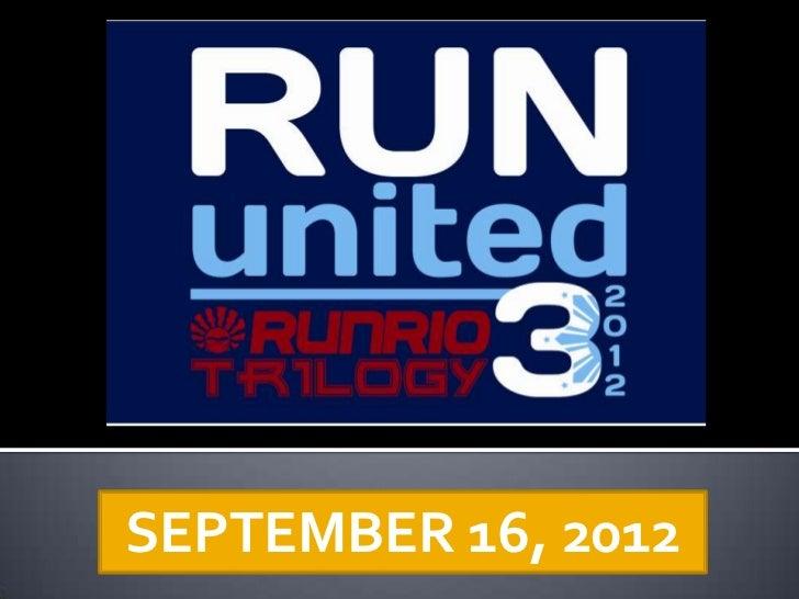 SEPTEMBER 16, 2012