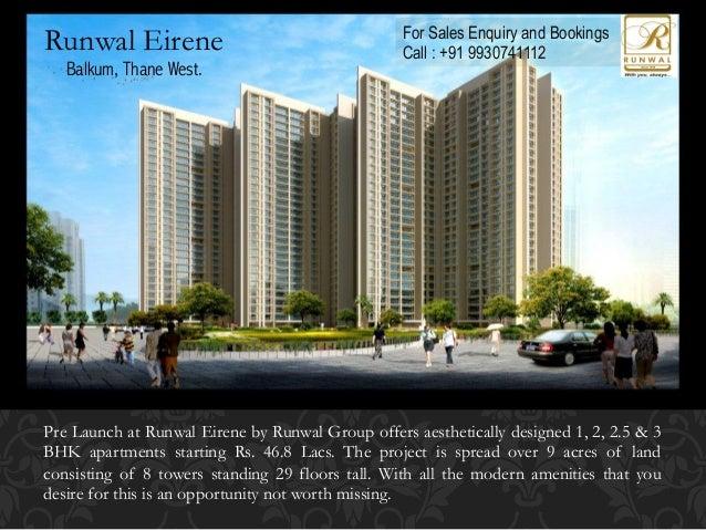 Prelaunch Runwal Eirene by Runwal Group  Call +91 9930741112
