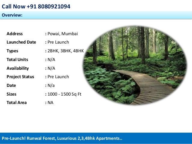 Runwal Forest - 08080921094, Prelaunch Kanjumarg Powai Mumbai residential apartments Slide 2
