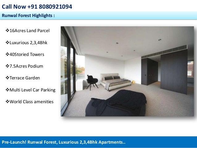 Runwal Forest - 08080921094, Prelaunch Kanjumarg Powai Mumbai residential apartments Slide 3